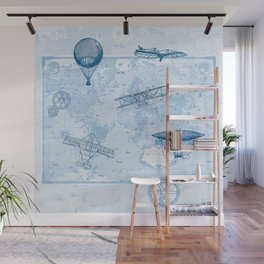 A Brief History of Flight Wall Mural