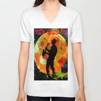 new orleans V-neck T-shirts featuring New Orleans  by Saundra Myles