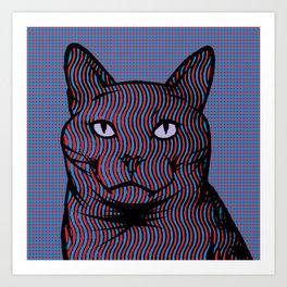 Wavy Catnip Art Print