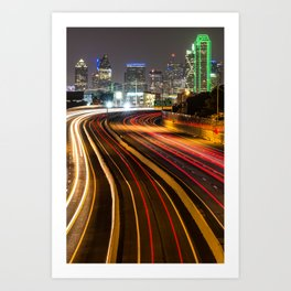 City of Dallas Texas - Skyline Photography Art Print
