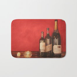 Wine on the Wall Bath Mat