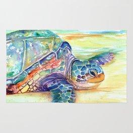 Rainbow Sea Turtle 2 Rug