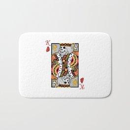 Horror Skeleton King Playing Card Picture Bath Mat