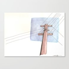 In a Network of Lines that Intersect Canvas Print