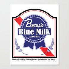 Beru's Blue Milk Lager Canvas Print