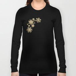 Gold Snow Long Sleeve T-shirt