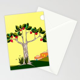 A Pomegranate Tree in Israel in the Day Stationery Cards