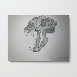 Saber-toothed Tiger Skull Metal Print