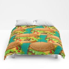 Double Cheeseburgers Comforters