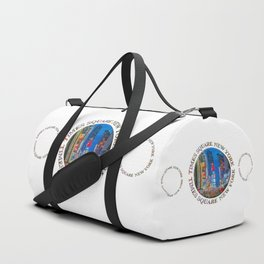 Times Square New York Triple Emblem (on white) Duffle Bag