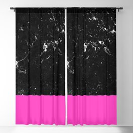 Pink Meets Black Marble #1 #decor #art #society6 Blackout Curtain