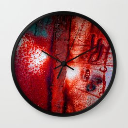 Rust in Red Wall Clock