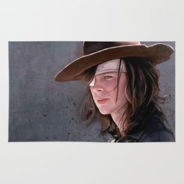 Carl Grimes Before The Fall - The Walking Dead Rug