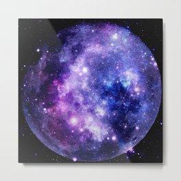 Galaxy Planet Purple Blue Space Metal Print