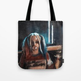 Harley Quinn - The Clown Princess Of Gotham With Her Goodnight Bat And Bubble Gum Tote Bag