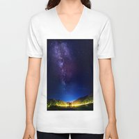 milky way V-neck T-shirts featuring The Milky WAY by 2sweet4words Designs