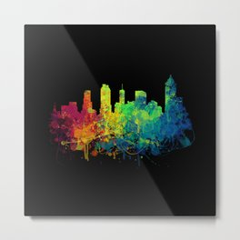 Painted Skylines: Atlanta Metal Print