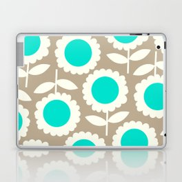 Bella Collection Beige and Turquoise Laptop & iPad Skin