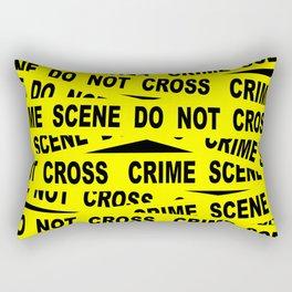 Crime Scene Tape Rectangular Pillow