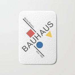 Bauhaus Movement Poster Artwork, 1919 Walter Gropius Reproduction, tshirt, tee, jersey, poster, artw Bath Mat