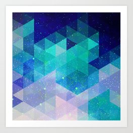 Geometric and electric Art Print