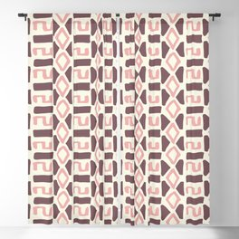 Pink Fall Tribal #society6 #tribal Blackout Curtain