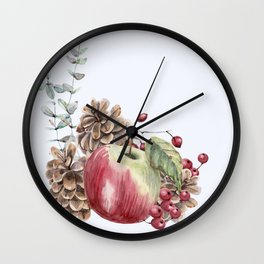 Winter Composition 2 Wall Clock