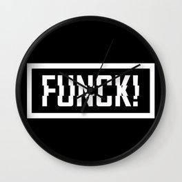 FUNCK! Wall Clock