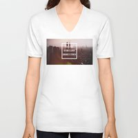 1984 V-neck T-shirts featuring 1984 by Michael Dameron