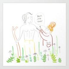 Poldarks Make up Artist  Art Print