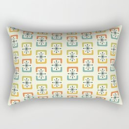 Mid Century Modern Starburst Shells Rectangular Pillow
