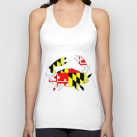house md Tank Tops featuring Md crab by junaputra