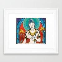 buddhism Framed Art Prints featuring Buddhism by Panda Cool