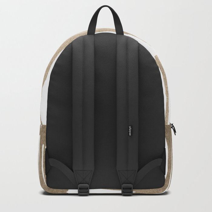 White Gold Sands Bamboo Stripes Backpack
