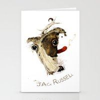jack russell Stationery Cards featuring Jack Russell by ari-s