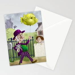 the Bowl Hat & Blowfish Stationery Cards