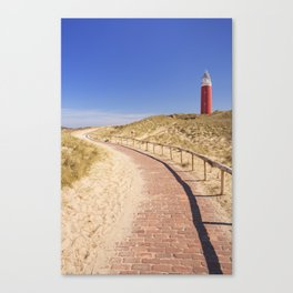 I - Lighthouse on the island of Texel in The Netherlands Canvas Print