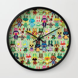Rabbit Crossing Wall Clock