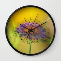 good morning Wall Clocks featuring Good Morning! by Klara Acel