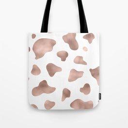 Rose gold cow print Tote Bag