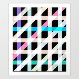 Weaving Soft Light in Black Art Print