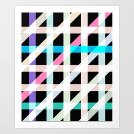 Weaving Soft Light in Black Art Print