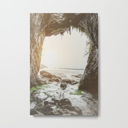 Ocean Sea Cave - Pacific Northwest Nature Photography Metal Print