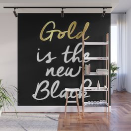 Gold is the new Black  Wall Mural