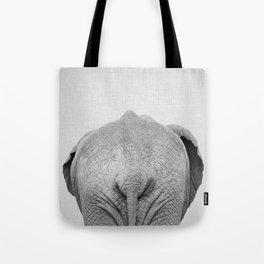 Elephant Tail - Black & White Tote Bag