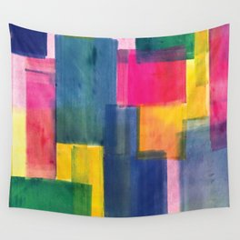 Color Block Series: Rooftops Wall Tapestry