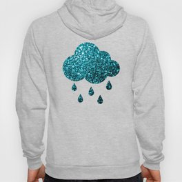 Beautiful Aqua blue glitter sparkles Hoody