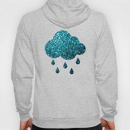 Beautiful Aqua blue glitter sparkles Hoody