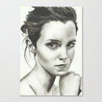 emma watson Canvas Prints featuring Emma Watson by Meliese Reid