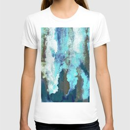 Turquoise And Earth Nebula T-shirt